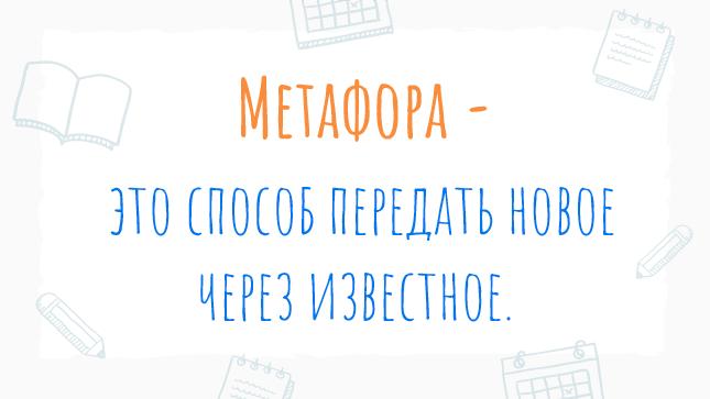 Краткое определение метафоры