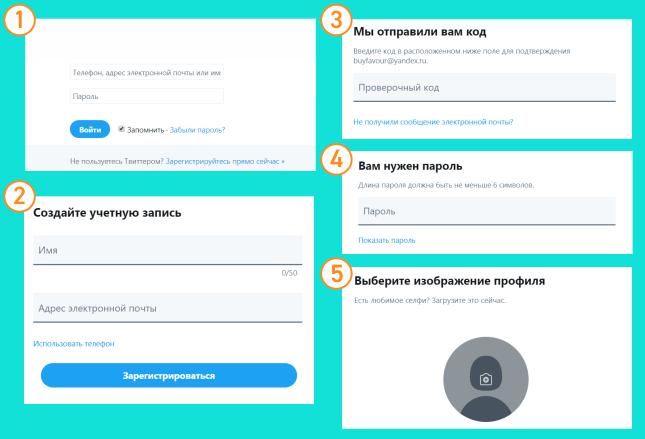 Регистрация аккаунта в 5 шагов