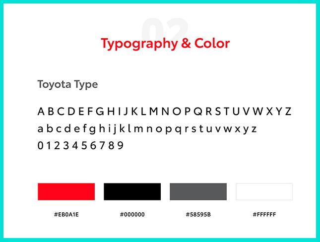 Типографика описывается в брендбуке
