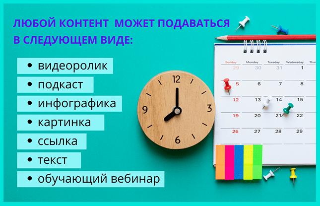 Виды контента во Вконтакте