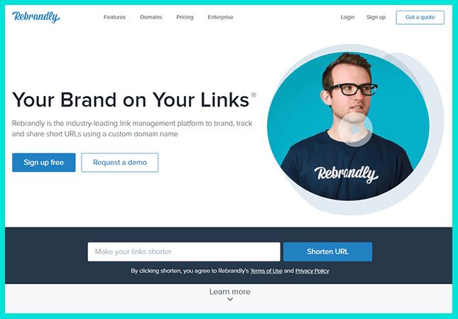 Удобный сервис для создания коротких ссылок - Rebrandly