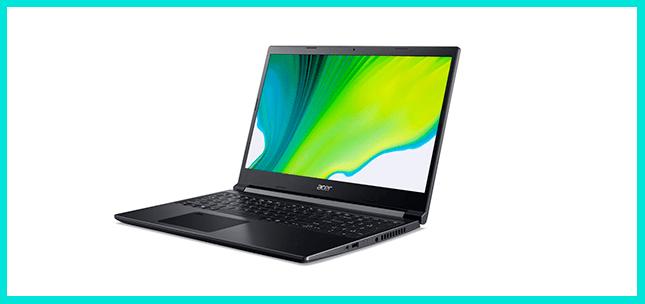 Ноутбук для дизайнера Aser Aspire 7 в среднем ценовом сегменте