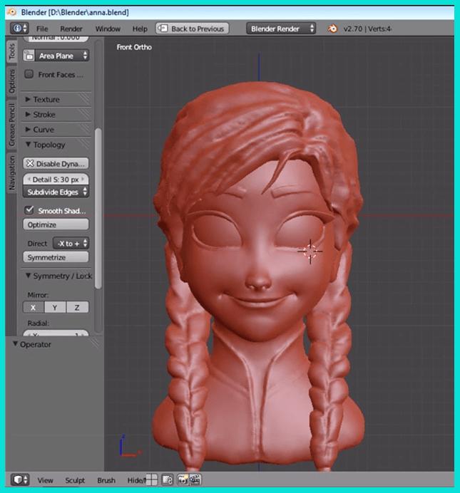 Скульптуринг - вид 3д моделирования