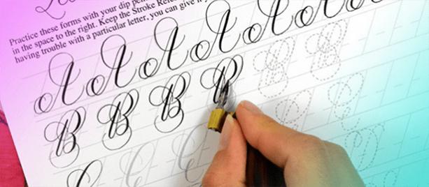 Каллиграфия для начинающих или как сделать почерк красивым онлайн