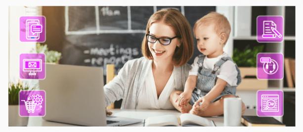 Работа из дома удаленно и уход за детьми: варианты подработки для мам в декрете